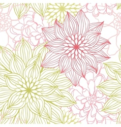 Flowers Sketch Pattern vector image vector image