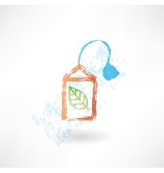 Green teabag grunge icon vector image