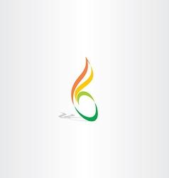 green yellow icon letter b logo design vector image vector image