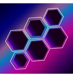 Hexagon abstract composition background vector image vector image