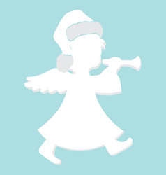 image of silhouette angel vector image