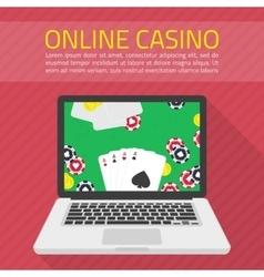 online casino vector image vector image