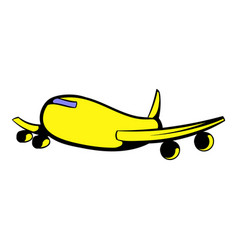 passenger airliner icon icon cartoon vector image vector image