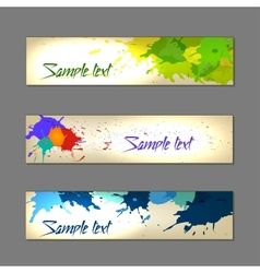 Set of colorful abstract watercolor banners vector image vector image