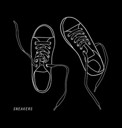 shoes isolated on black vector image