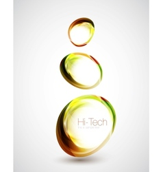 Abstract glass shapes vector image vector image