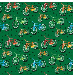 bright bicycle pattern vector image vector image