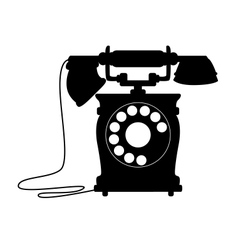 Old-fashioned dial up telephone vector image vector image