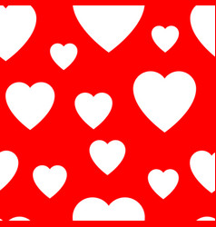 seamless pattern from simple flat hearts vector image vector image