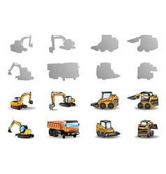 vehicles set vector image