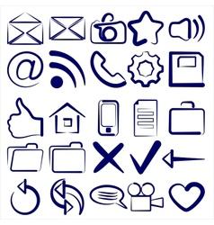 Computer Icon Collection symbols vector image vector image