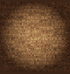 created vintage style of brown mosaic texture vector image vector image