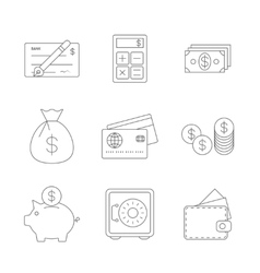 Finance Icons Line vector image vector image