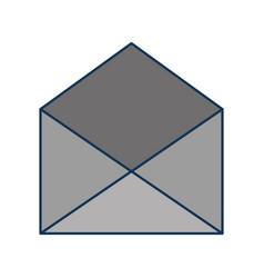 open envelope message mail concept vector image