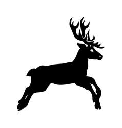 silhouette deer vector image