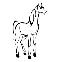 Tattoo standing horse vector