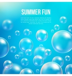 Abstract soap bubbles background vector image vector image
