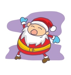 Santa Claus waving cartoon vector image