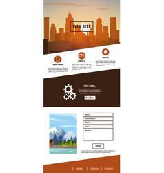 urban website template vector image