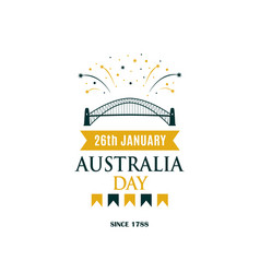 Australia day greeting banner with text vector