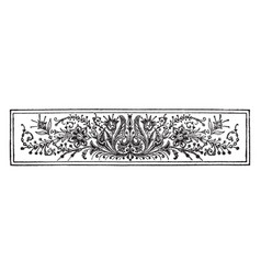 Banner have very antique flowers pattern in this vector