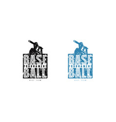Baseball tournament emblem for t-shirt vector