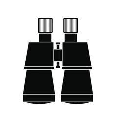 Binoculars black simple icon vector image