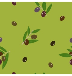 Black and green olive and leaves green seamless vector