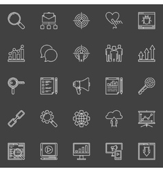 Business Marketing icons set vector