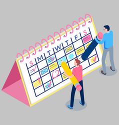 Business planning concept agenda reminder vector