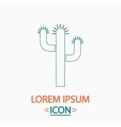 Cactus computer symbol vector image