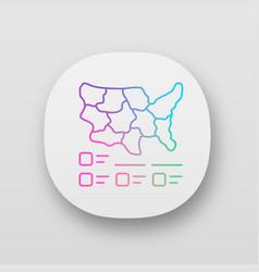 Cartogram app icon diagram usa map vector