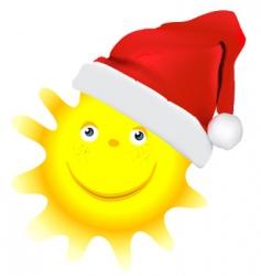 cartoon Christmas sun vector image vector image