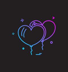 christmas balloon icon design vector image