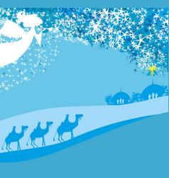christmas religious nativity scene vector image