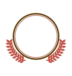 Circular border with crown branch leaves vector