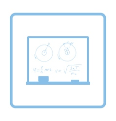 Classroom blackboard icon vector