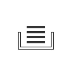 Clipboard stack line icon simple modern flat for vector