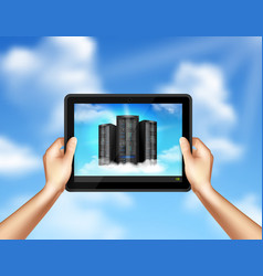 cloud storage realistic image vector image