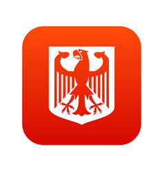 coat of arms of germany icon digital red vector image