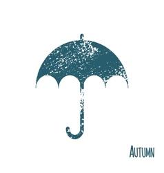 Color umbrella symbol on white background vector image