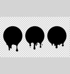 current paint stains drops inks vector image