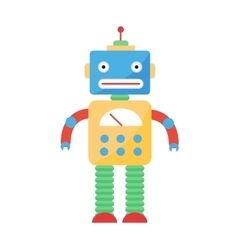 Cute toy robot character vector