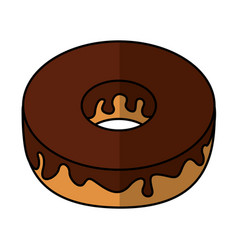 Delicious donut bakery product vector