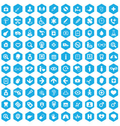 doctor 100 icons universal set for web and ui vector image