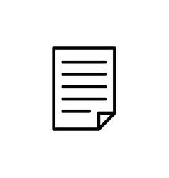 document icon can be used for web logo mobile app vector image