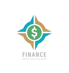 dollar finance logo design money business vector image