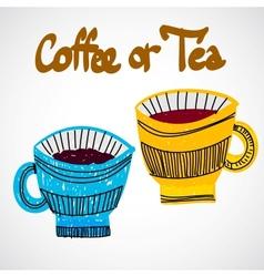 Doodle cups vector