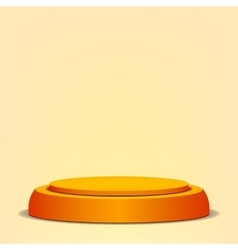 Empty Podium Yellow 3D Stage Realistic vector image