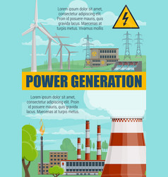 Energy power generation power plants vector